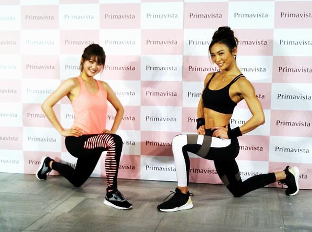 画像: (左)モデル・松元 絵里花さん(右)クロスフィットトレーナーAYAさん