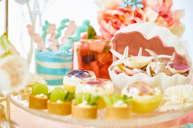 画像2: 海をイメージした自家製のトロピカルスイーツが食べ放題!『プリンセス・マーメイドのデザートワゴン』