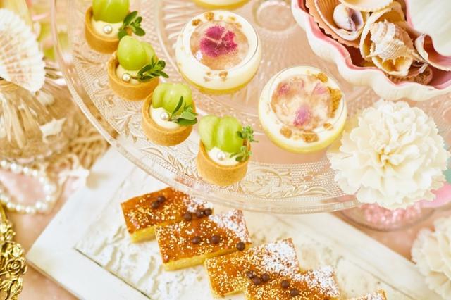 画像4: 海をイメージした自家製のトロピカルスイーツが食べ放題!『プリンセス・マーメイドのデザートワゴン』