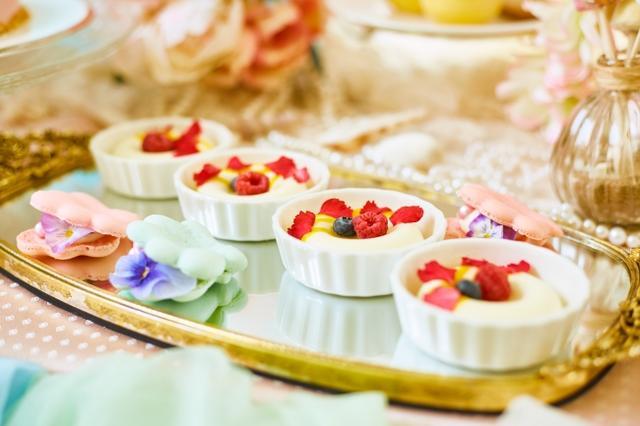 画像3: 海をイメージした自家製のトロピカルスイーツが食べ放題!『プリンセス・マーメイドのデザートワゴン』