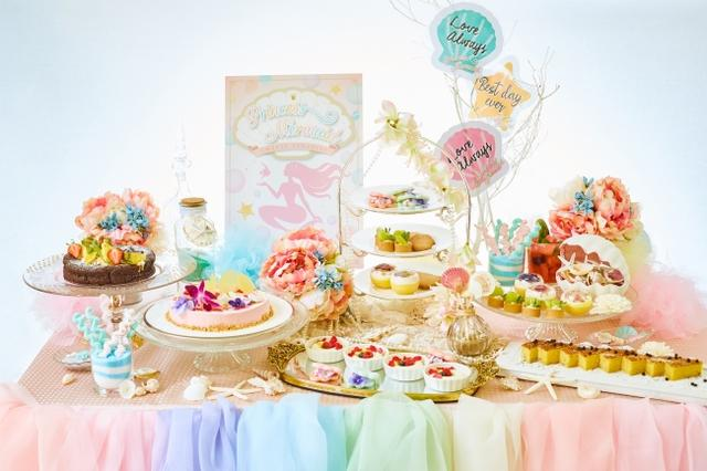 画像1: 海をイメージした自家製のトロピカルスイーツが食べ放題!『プリンセス・マーメイドのデザートワゴン』