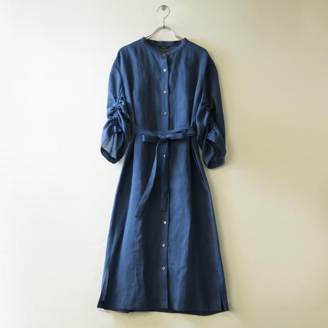 画像1: 涼やかで軽やかなシャツドレス