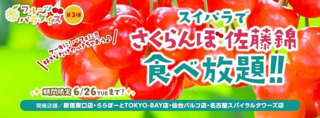 画像2: フルーツパラダイス第3弾『さくらんぼ佐藤錦食べ放題』開催