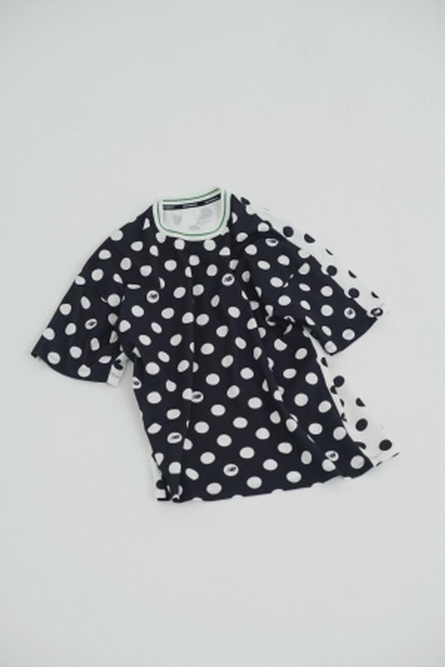 画像: 商品名:Frapbois Dot print Tee 価格:9,500円+税 カラー:BK サイズ:M、L 発売日:7月10日(火)~ 先行予約:6月16日(土)~