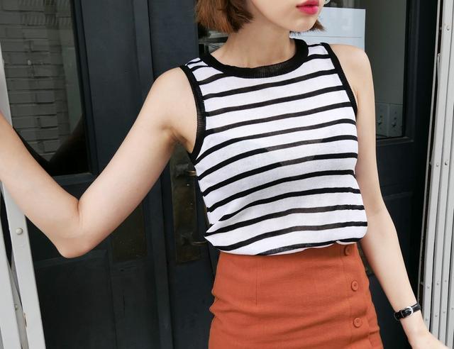 画像: 2TYPE二ットスリーブレス・全5色・b50226  ¥2,150+消費税 www.dholic.co.jp