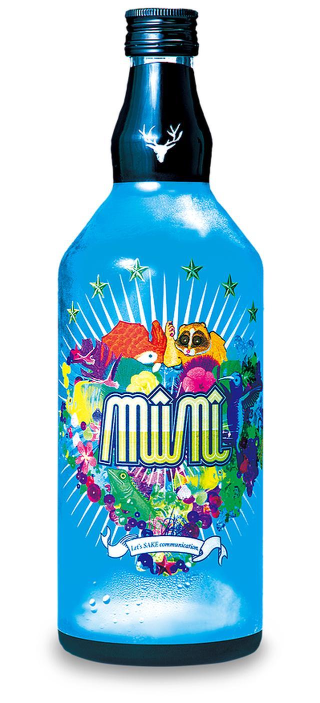 画像: 商品名    :mūnī(ミュニ) 品名     :SAKEリキュール 容量     :720m 容器     :瓶ケース 入数     :12本 アルコール度数:27度 原材料    :清酒、醸造アルコール、青色1号
