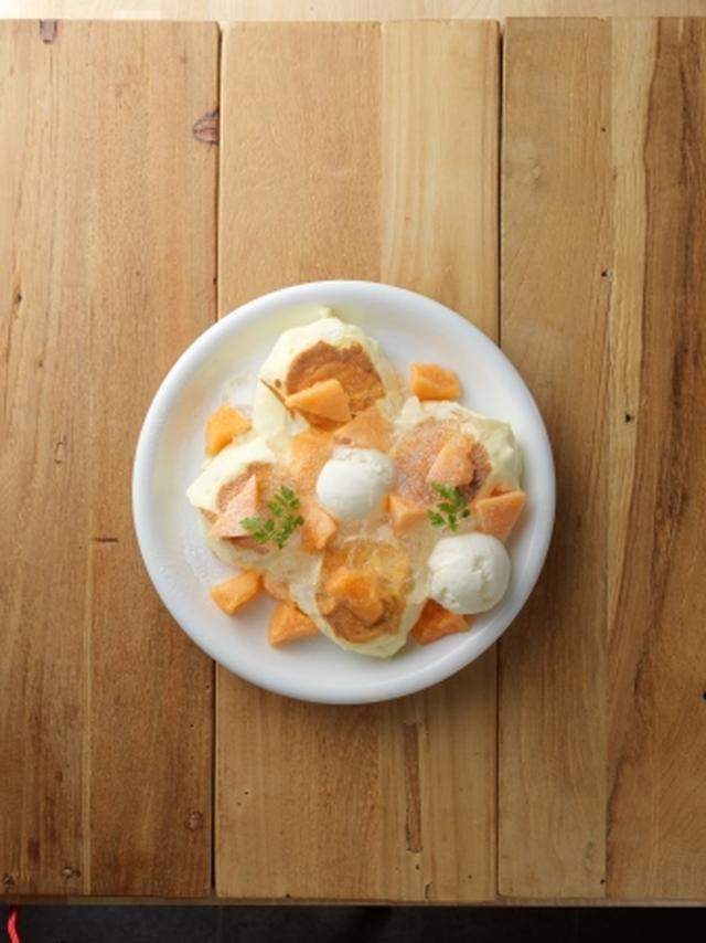 画像: ジューシーでとっても甘い北海道の夏の恵み!新作パンケーキに「富良野メロン」が新登場
