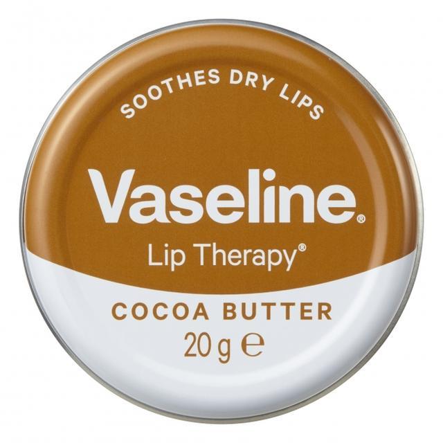 画像: 製品名:ヴァセリン リップ モイストシャイン ココア 内容量:20g 価 格:オープン価格 特徴:うるおって艶やかな唇に。 ココアバター(保湿成分)配合 / ココアの香り (香料配合)