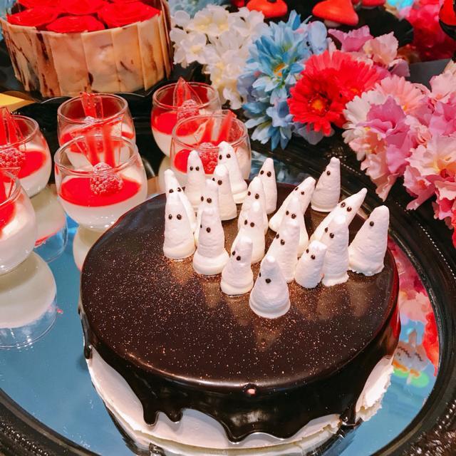 画像: 「1、2、1、2、ゴーストメレンゲケーキ」