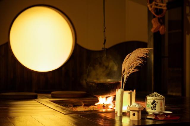 画像: 界アルプス(長野県・大町温泉) 囲炉裏で楽しむ月夜の集い