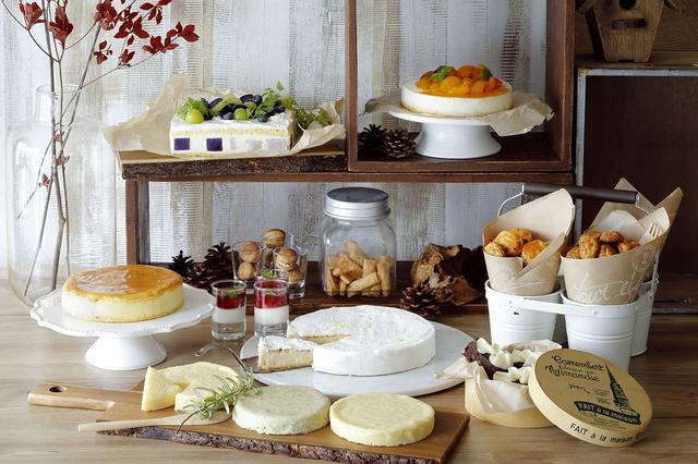 画像: チーズを使用したスイーツ