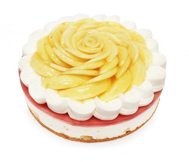画像: 桃のレアチーズケーキ