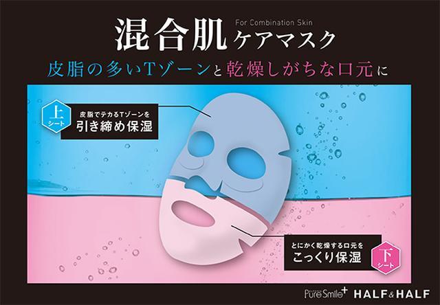 画像: 皮脂の多いTゾーンと乾燥しがちな口元に <上シート> 皮脂でテカるTゾーンを引き締め保湿 <下シート> とにかく乾燥する口元をこっくり保湿