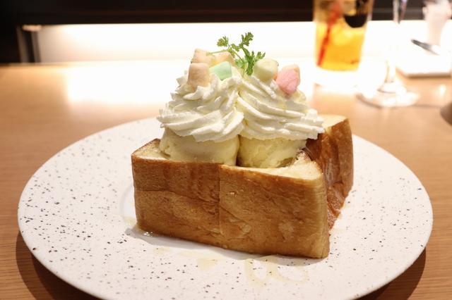 画像: デザートには、銀座の食パンのハニートーストを♡