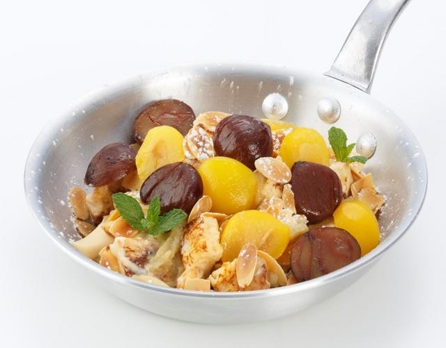 画像: パンプディング ダブルマロン 〈Panpudding Double Marron〉 Ivorishの秋と言えばこれ! 人気のダブルマロンが、 今年はパンプディングになりました。優しい甘さのチーズプディングをからめたフレンチトーストに、 和栗を使ったマロンクリームを絞り、 黄栗と渋皮栗を飾った、 秋の訪れを告げるIvorishファンおまちかねの一皿です。 One size 1,600円