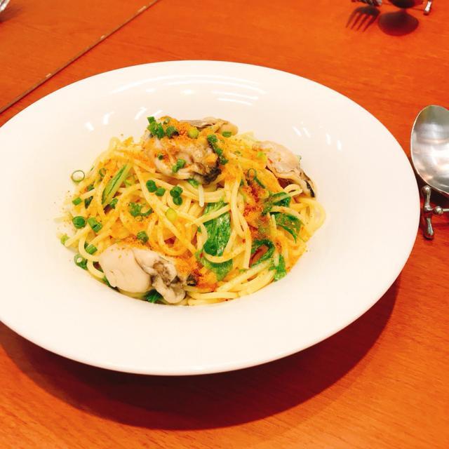 画像: 牡蠣とからすみのスパゲッティ/¥1,132(税込)