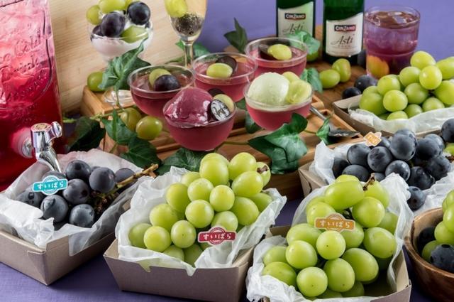画像: フルーツパラダイス第5弾『スイパラでシャインマスカット・巨峰食べ放題』