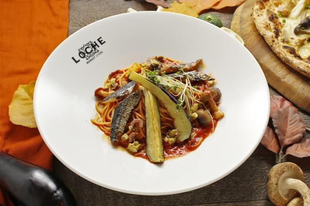 画像: 「秋刀魚と揚げ茄子のプッタネスカ」 旬の秋刀魚と茄子をイタリアでは定番のプッタネスカで登場!オリーブやケッパーを使った旨味の詰まったトマトソースが魅力。
