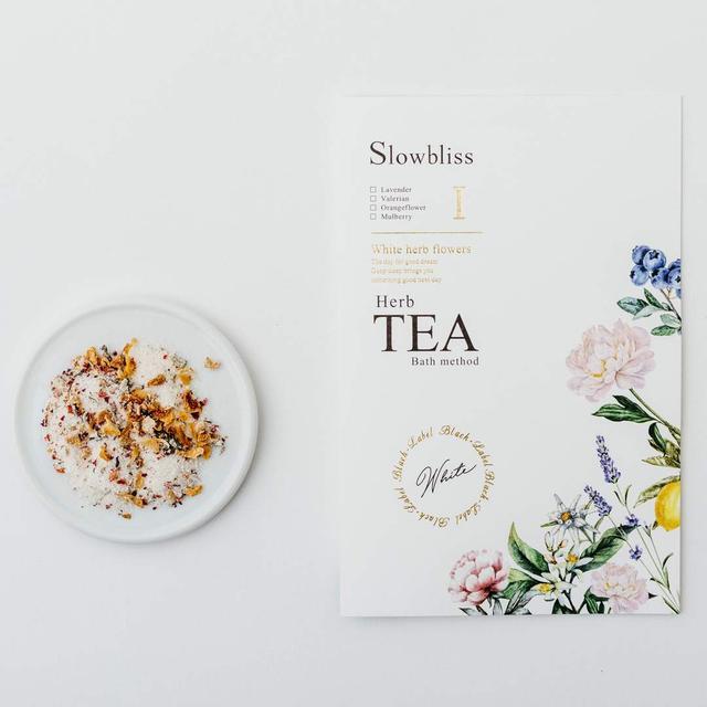 画像: 【商品名】スローブリス ハーブティバスメソッド White herb flowers I 【価格】500円(税抜) 【内容量】28g