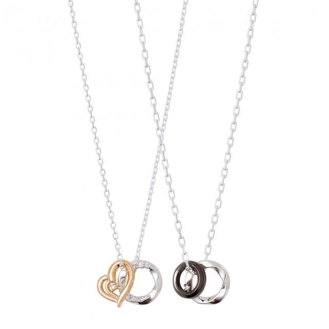 画像: 素材:シルバー925(ピンクゴールドコーティング 、ブラックロジウムコーティング )、ダイヤモンド、キュービックジルコニア 価格:レディース(40cm)15,000 円+税 / メンズ(50cm)13,000 円+税