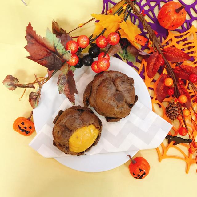 画像2: 【試食レポ】ハロウィン限定!ビアードパパの「ブラックハロウィンパンプキンシュー」新発売!