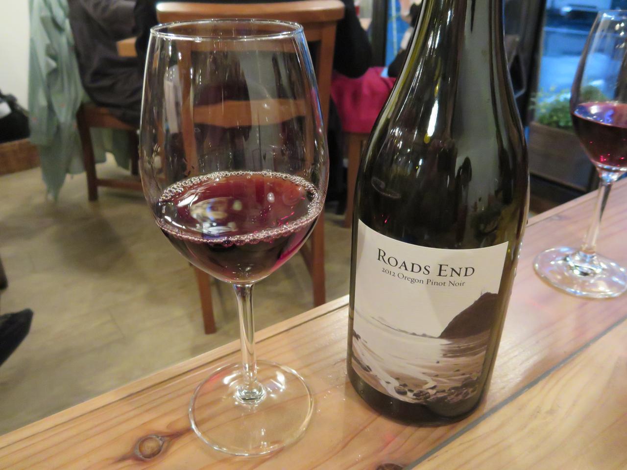 画像: オレゴンワイン ROADS END ボトル9,000円(税抜)