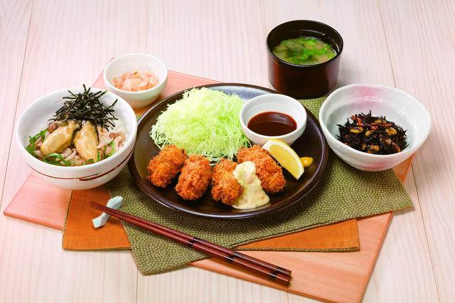 画像: 牡蠣づくし!カキフライと牡蠣の漬けご飯和膳 1,099円