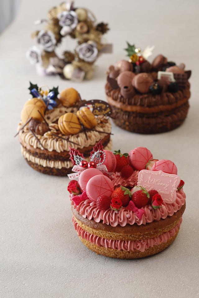 画像: リースケーキコレクション、マロン、ショコラ、ルージュ 各7.600円(税別)