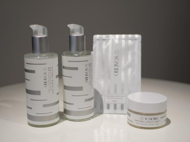 画像: 商品左からYST保湿液(しっとり)、YST保湿液(さっぱり)、YST保湿マスク、YST保湿クリーム