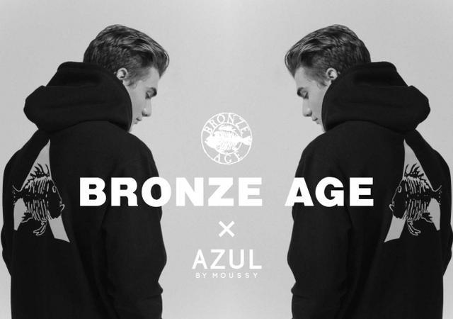画像1: 「AZUL by moussy」伝説のサーフ&スケートブランドBRONZE AGEとのコラボアイテムを発売!