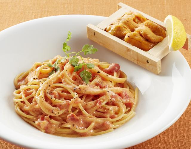 画像: 箱盛りうにのトマトクリームスパゲッティ  1,099円