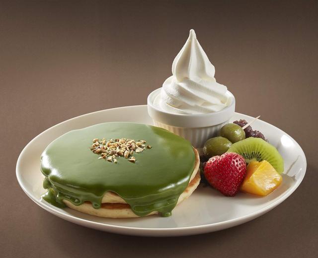 画像: 香る 濃厚抹茶のパンケーキ  699円