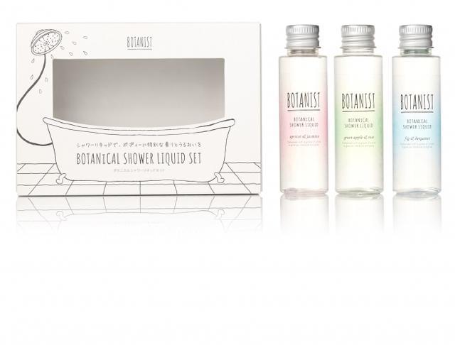画像: 画像左より ・華やかさを彩るアプリコットとジャスミンの香り (ボタニカルシャンプーモイストの香り) ・爽やかさを彩るグリーンアップルとローズの香り (ボタニカルシャンプースムースの香り) ・優美さを彩るフィグとベルガモットの香り (店舗限定ボタニカルシャンプーモイストの香り)