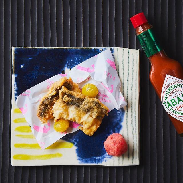 画像: 秋刀魚の竜田揚げ&銀杏の翡翠揚げ