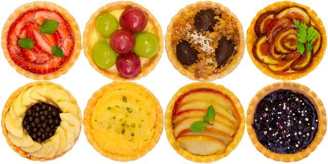 画像: パイの種類:ストロベリー/ブドウ/マロン/イチジク/バナナ/ラフランス/アップル/ブルーベリー 全8種類