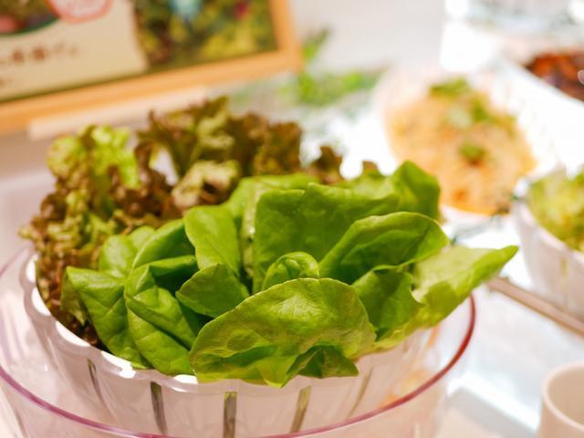 画像: 新鮮なサラダが並びます