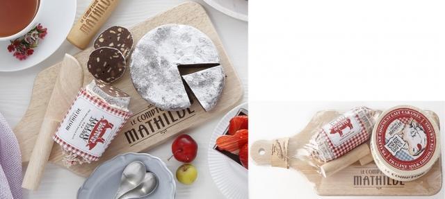 画像: 『ル・コントワール・ド・マチルド』ソーセージ型チョコ&カマンベール型チョコ 5,400円/1個(各150g)