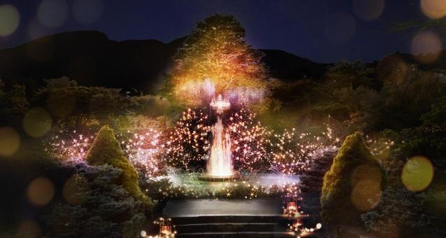 画像: 春の訪れを感じさせる箱根強羅公園の期間限定イベント「スプリングナイトガーデン~不思議な夜の演奏会~」。
