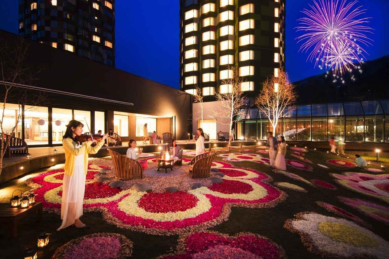 画像: 星野リゾート トマム 春の訪れを祝うイベント「花咲くトマム」で 花景色のライトアップを初めて実施