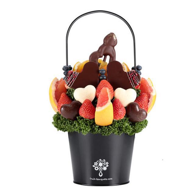 画像2: バレンタインにおすすめ! チョコとフルーツをおしゃれに融合した 「フルーツブーケ(R)」