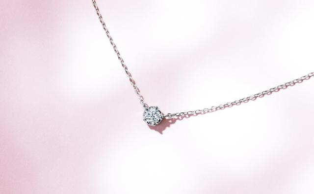 画像: Pt950/Diamond Necklace ¥80,000+Tax