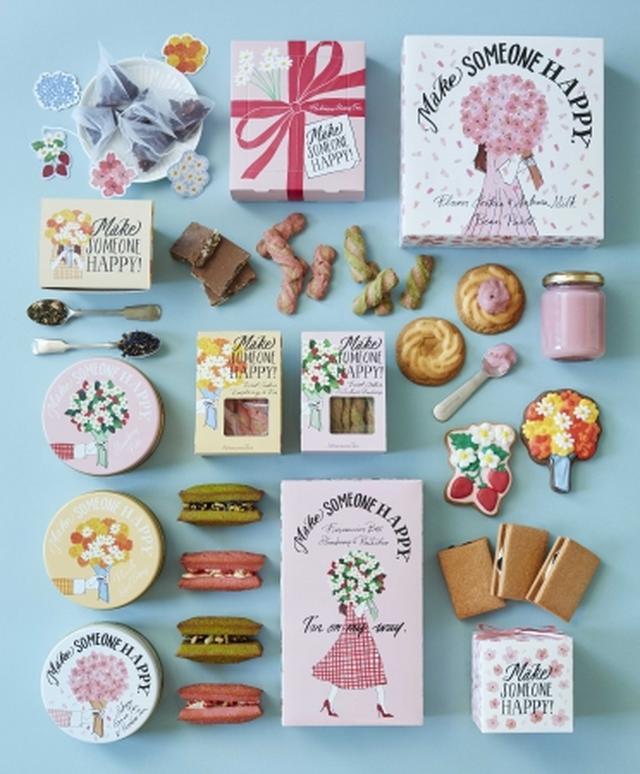 画像2: 【Afternoon Tea】桜やいちごを楽しむ「Sweets & Tea Gift」、お花のブーケや桜を描いた春限定パッケージで新発売
