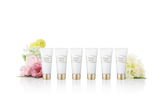 画像: <限定品> ハンドクリームコレクション 20g×6種 / 6,500円(税抜) <フローラルグリーン/ホワイトローズ/チェリーブロッサム/フレッシュピオニー/フレンチローズ/リッチカメリア> 香りによって異なる、感触とあと肌。ギフトに、デイリーに。 花束を抱いているように香る、ハンドクリームキット。 その日の気分に合わせて、香りを楽しめます。