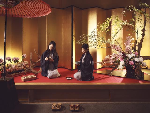 画像: 界日光(栃木県・中禅寺温泉)花と団子と組子を楽しむ 春限定の茶屋オープン