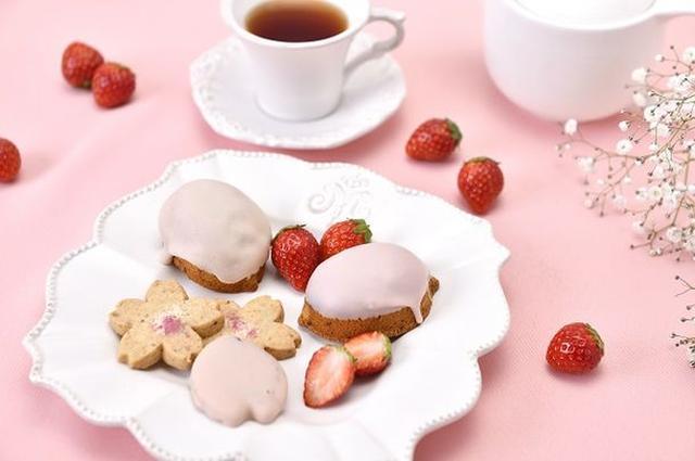 画像1: 「春のお祝いギフト」におすすめ!アニバーサリーのいちご×桜を使った3つの人気焼菓子