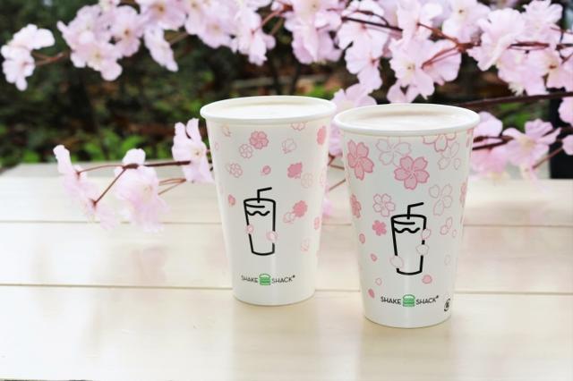 画像1: 片手にお花見、桜ドリンクも