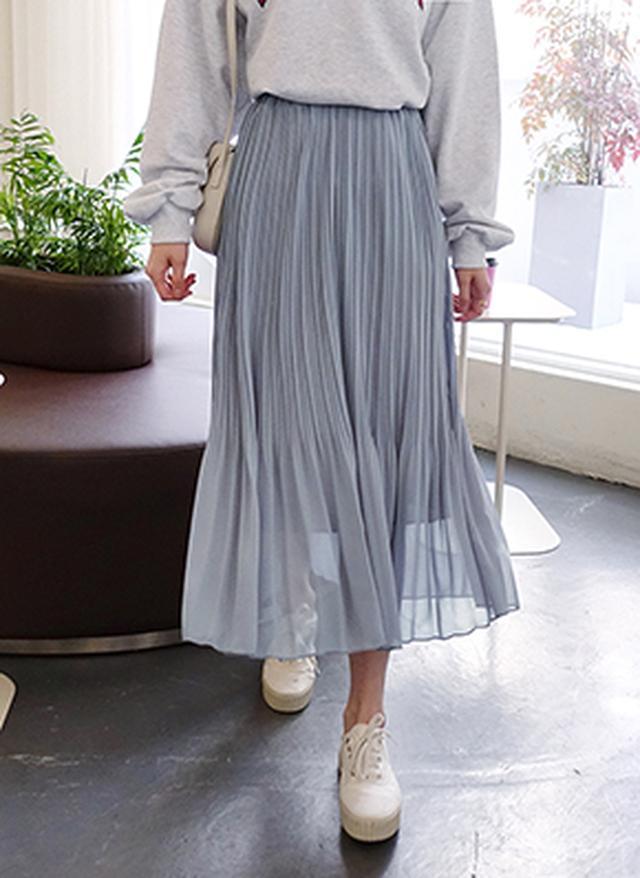 画像: [DHOLIC] シフォンウエストゴムプリーツスカート・全3色スカートスカート レディースファッション通販 DHOLICディーホリック [ファストファッション 水着 ワンピース]