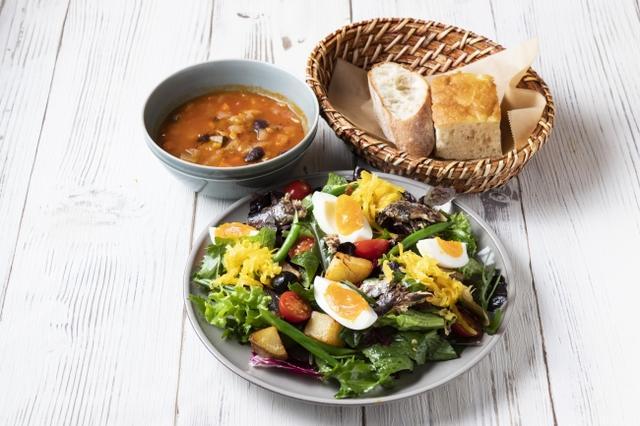 画像: ニース風サラダと選べるスープランチ 1,200円