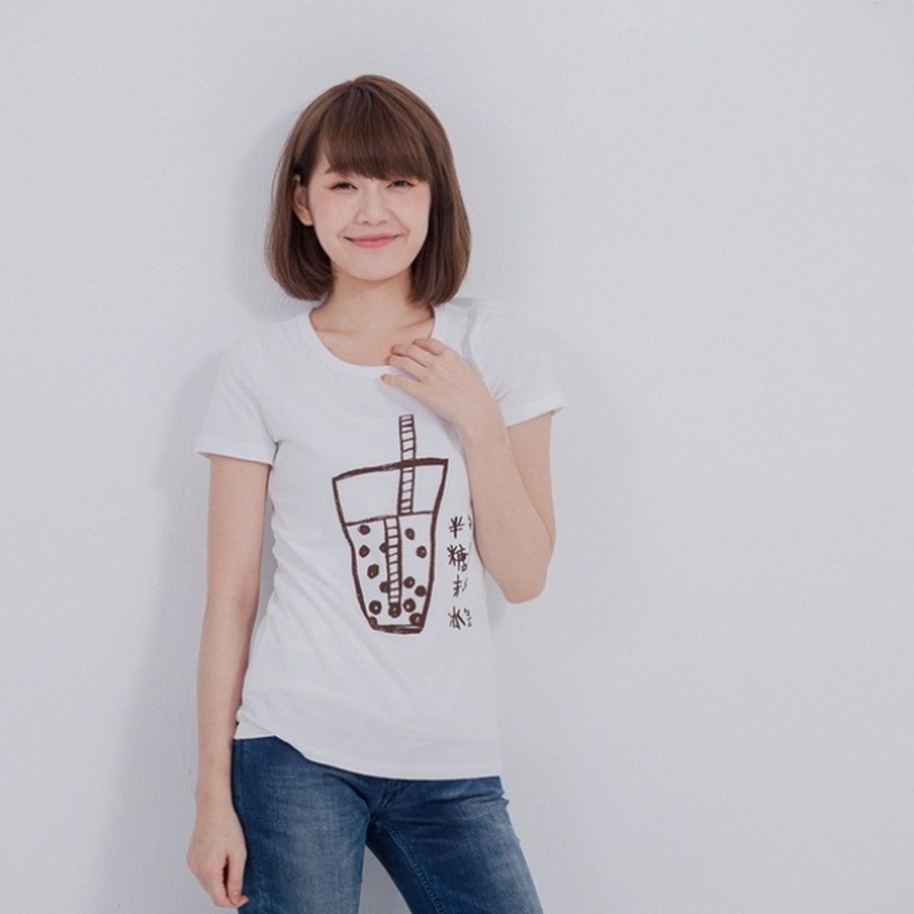 画像: タピオカTシャツ 4,085円(税込・送料込) jp.pinkoi.com