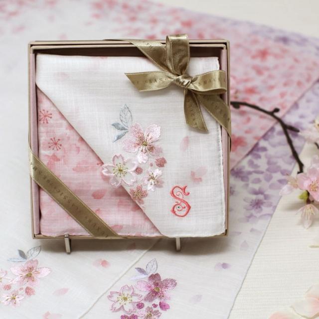 画像6: 入学・入社 新しいスタートのお祝いに 桜ハンカチ発売中